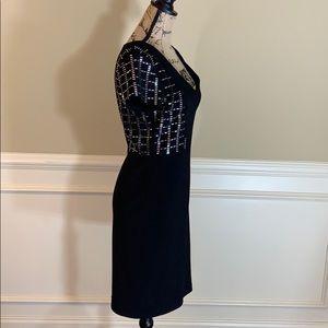 Joseph Ribkoff Dresses - Joseph Ribkoff Silver Embellished Sheath Dress